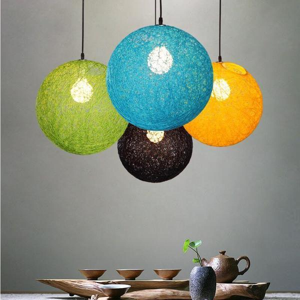 Hilde - Vintage Wicker Pendant Lamp - Modernly Decor
