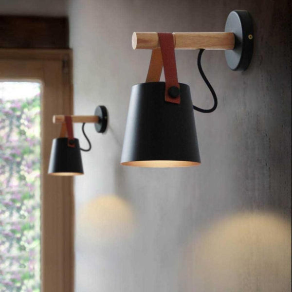 NOVA - Wooden Lantern Nordic Hanging Wall Lamp - Modernly Decor