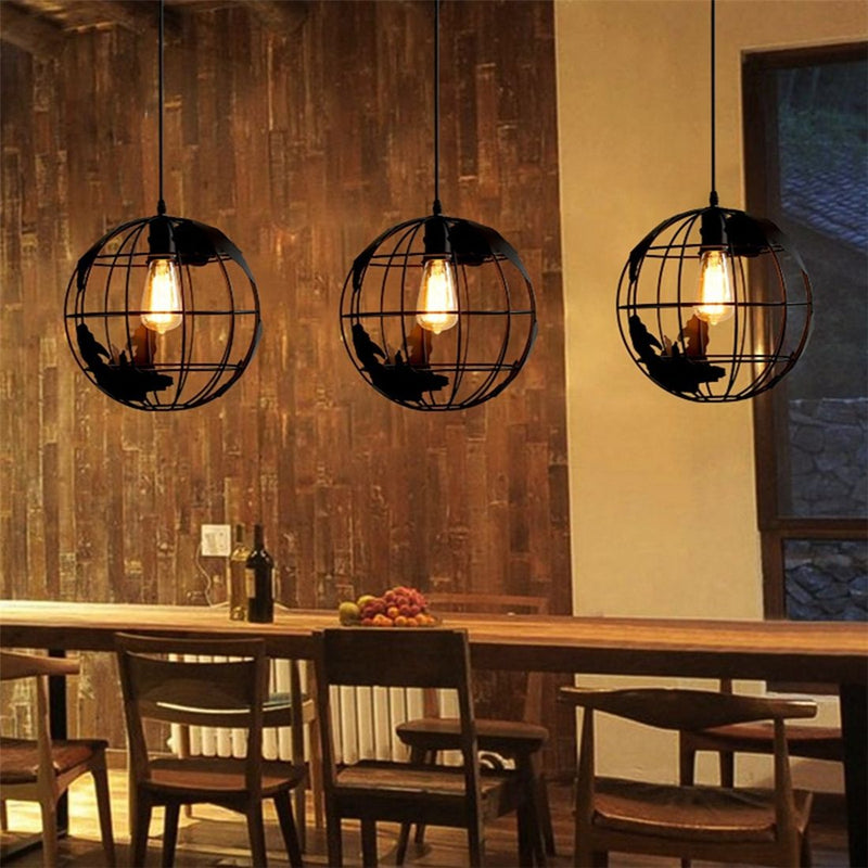 Modern Nordic World Globe Hanging Light - Modernly Decor