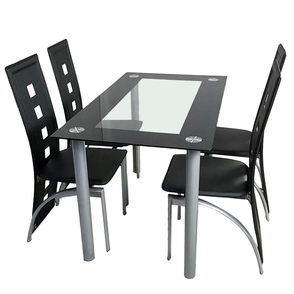 Alisei - Tempered Glass Dining Table and Chairs - Modernly Decor