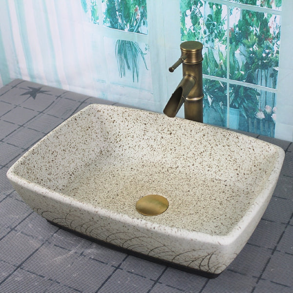 Roca - Porcelain Ceramic Vessel Sink - Modernly Decor
