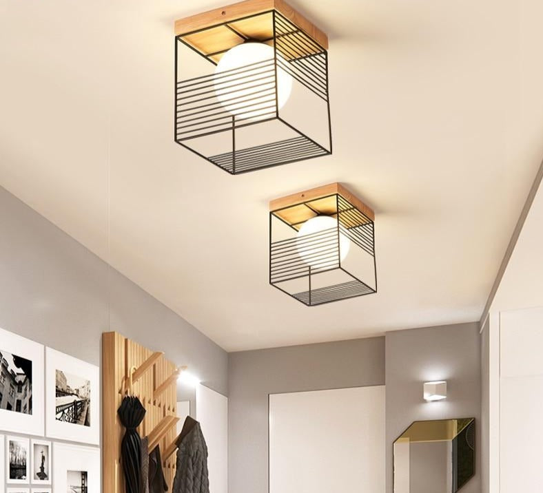 Escher - Vintage Cage Ceiling Lights - Modernly Decor