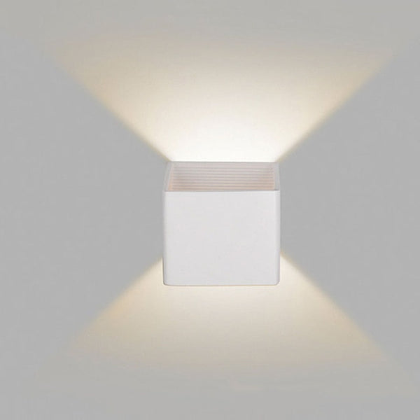 Modern LED Up Down Cube Wall Lamp - Modernly Decor