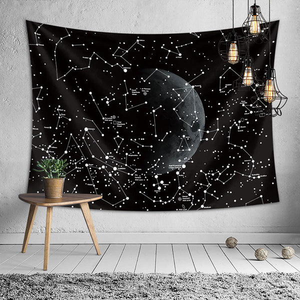 Cassiopeia Constellation Tapestry Wall Hanging - Modernly Decor