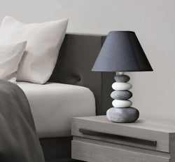 Stonia - Modern Ceramic Stone Pile Lamp - Modernly Decor