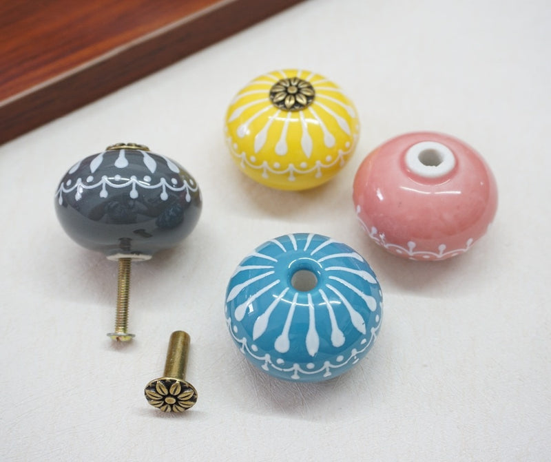 Anouk - Ceramic Macaroon Cupboard & Door Handle - Modernly Decor