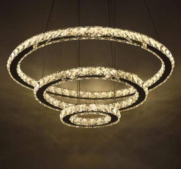 Circular Crystal LED Chandelier - Modernly Decor