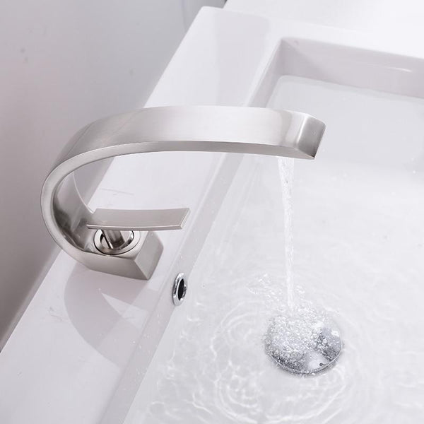 Modern Crane Design Single Handle Basin Faucet - Modernly Decor
