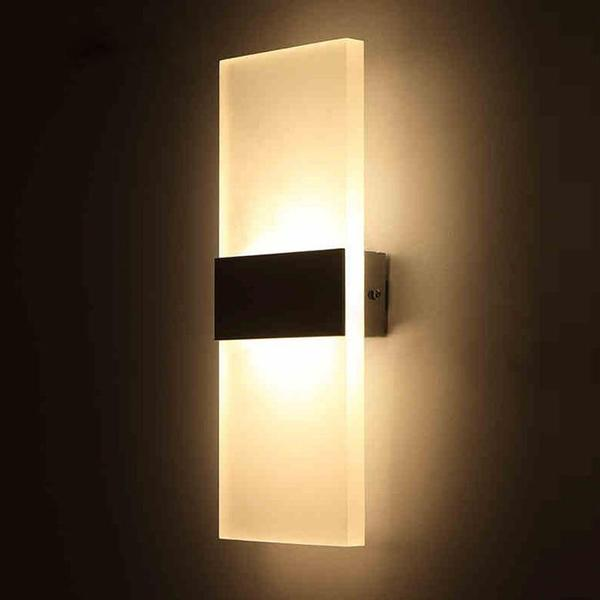 Modern Strip Acrylic LED Wall Lamp - Modernly Decor