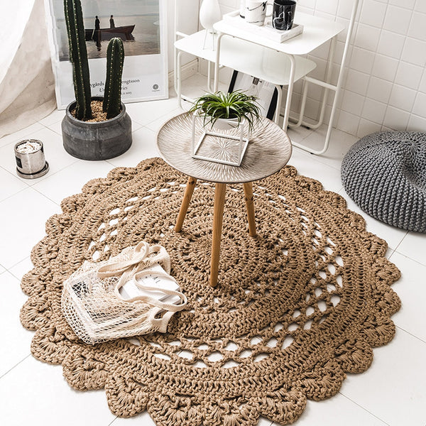 Arlo - Hand Woven Crochet Rug - Modernly Decor
