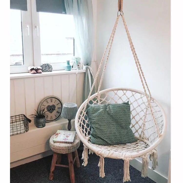 Ada - Macrame Hanging Swing Chair - Modernly Decor