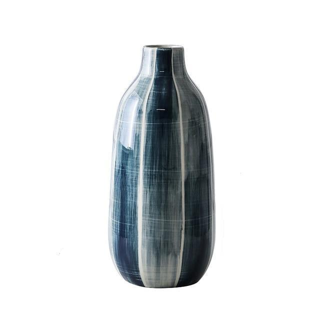 Loxley - Blue Minimalist Highlight Flower Vase - Modernly Decor