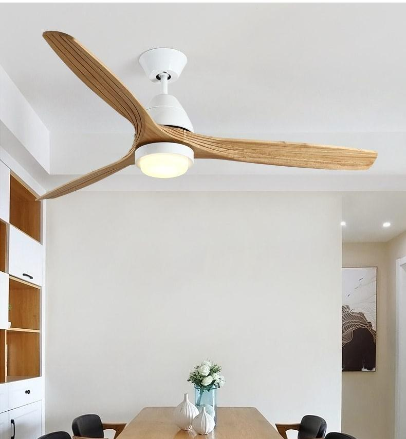 Modern Nordic Ceiling Fan with LED Light - Modernly Decor