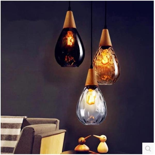Sergia - Modern Nordic Drop Glass Pendant Lamp - Modernly Decor