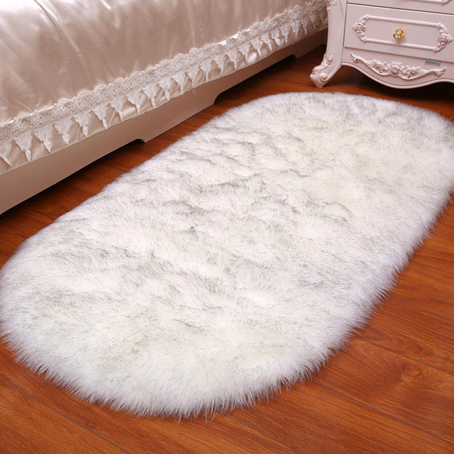 Charon - Faux Sheepskin Fluffy Rug - Modernly Decor