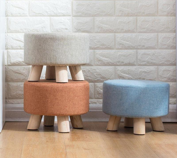 Huo - Modern Nordic Round Footstool - Modernly Decor