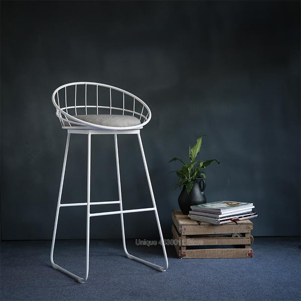 Thierry - Iron Hollow Out Frame Bar Stool - Modernly Decor