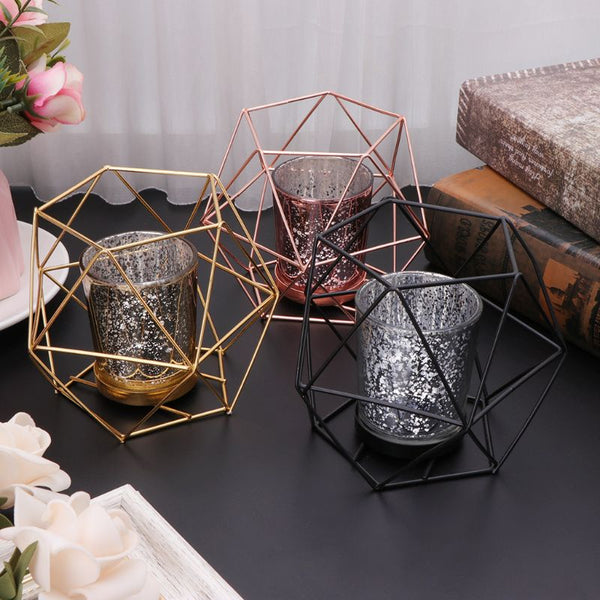 Ado - Modern Nordic Geometric Candle Holder - Modernly Decor