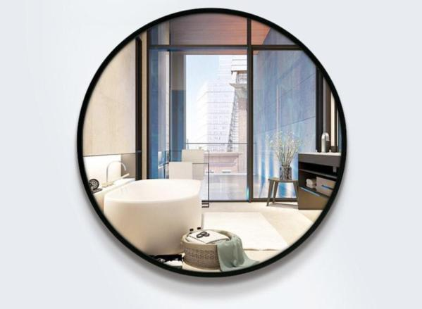 Tamari - Round Floating Wall Mirror - Modernly Decor