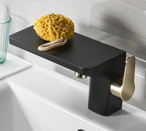 Portia - Porcelain Faucet with Mini Shelf - Modernly Decor