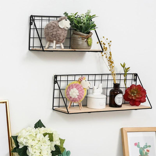 Murus - Lattice Iron Shelf - Modernly Decor
