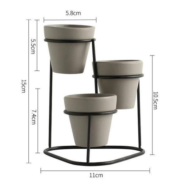 Temprince - 3 Level Planter & Stand - Modernly Decor