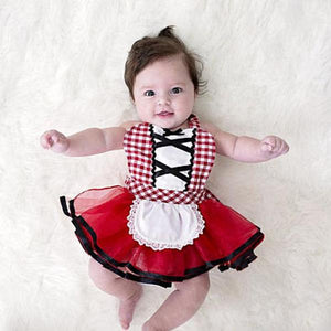Cute Newborn Girl Red Riding Hood Costume