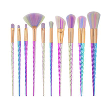 Load image into Gallery viewer, Rainbow Unicorn Brushes - 10 Piece Set