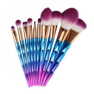 Rainbow Unicorn Brushes - 10 Piece Set