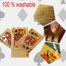 Load image into Gallery viewer, 24K Gold Playing Cards