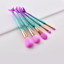 Load image into Gallery viewer, Mermaid Makeup Brushes Set