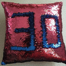 Load image into Gallery viewer, Sequin Mermaid Throw Pillow