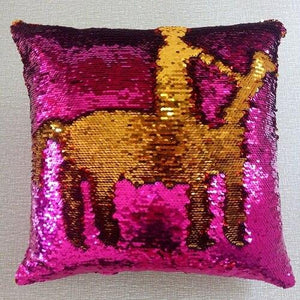 Sequin Mermaid Throw Pillow