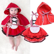 Load image into Gallery viewer, Cute Newborn Girl Red Riding Hood Costume