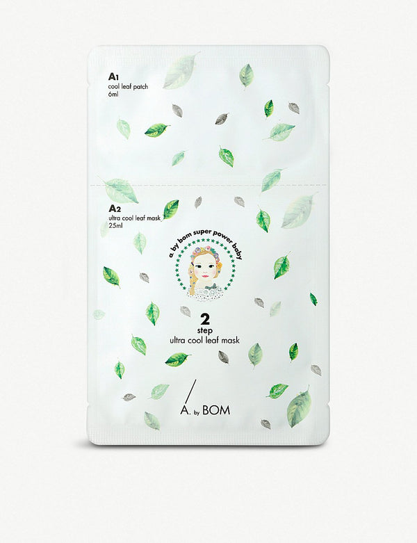 A by Bom - 2 Step Ultra Cool Leaf Mask