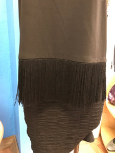 Michael Kors Size M Black Fringe Shirt NEW