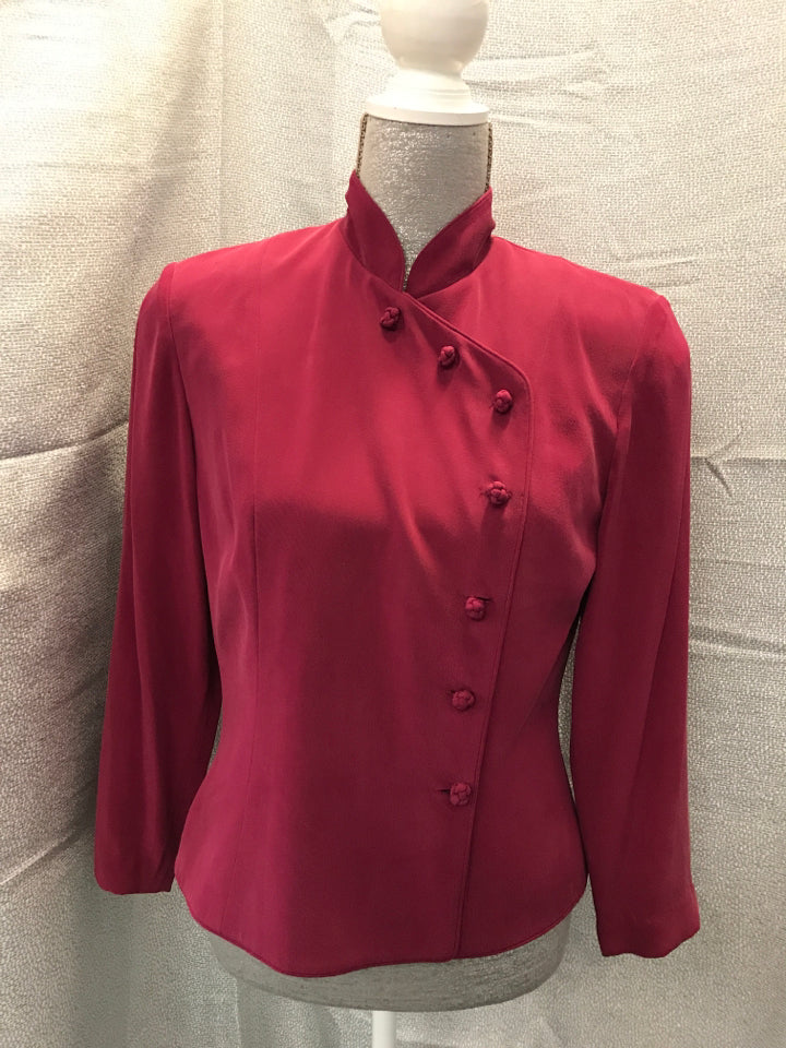 Adrianna Papell Size 6 Pink SILK Blouse