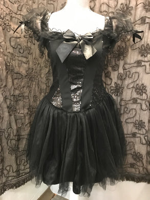 halloween Size M Black Sequin Dress