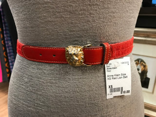 Anne Klein Size XS Red Lion Belt