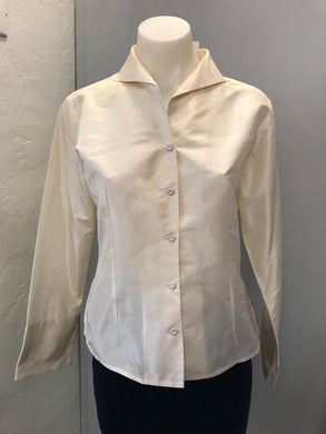 Eileen Fisher Size XS Cream Shirt