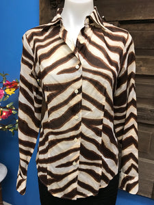 Michael Kors Size 6 Animal Print Shirt