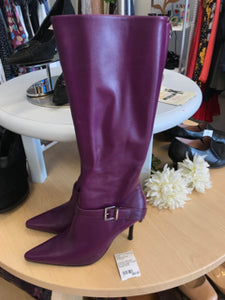 Andrew Stevens 8 Knee High Purple Boots NEW