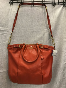 Coach Madison Leather Lindsey Satchel - Persimmon 18641