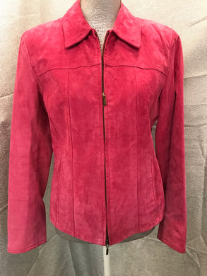 coldwater creek Size S Pink Leather Suede Jacket