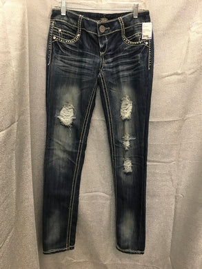 Size 5 almost famous distressed Jeans