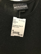Load image into Gallery viewer, Notations Size M Black Shirt