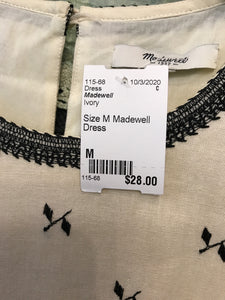 Size M Madewell Dress