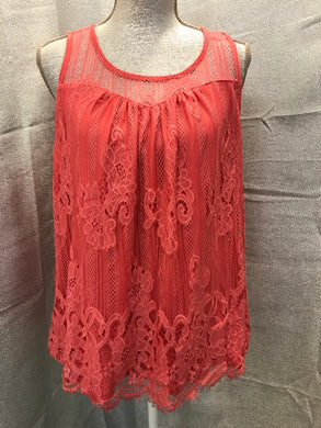 Maurices Size XL Pink Lacey Shirt