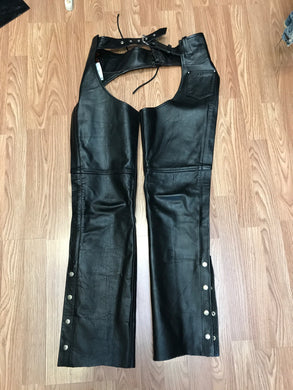 Hot Leathers Size S Black Chaps