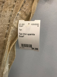 Tan thin sparkle Scarf